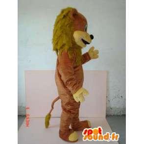 Cub mit braunem Pelzmaskottchen - Dschungel-Tier - MASFR00630 - Löwen-Maskottchen