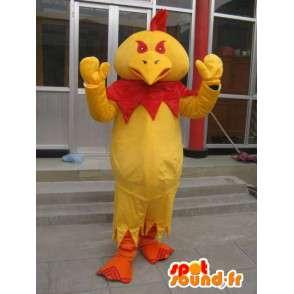 Böse Maskottchen Hahn rot und gelb - Kostüm für Sponsoren - MASFR00631 - Maskottchen der Hennen huhn Hahn