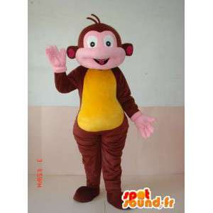 Hnědé a žluté opice oblek. zoo zvíře pro slavnosti