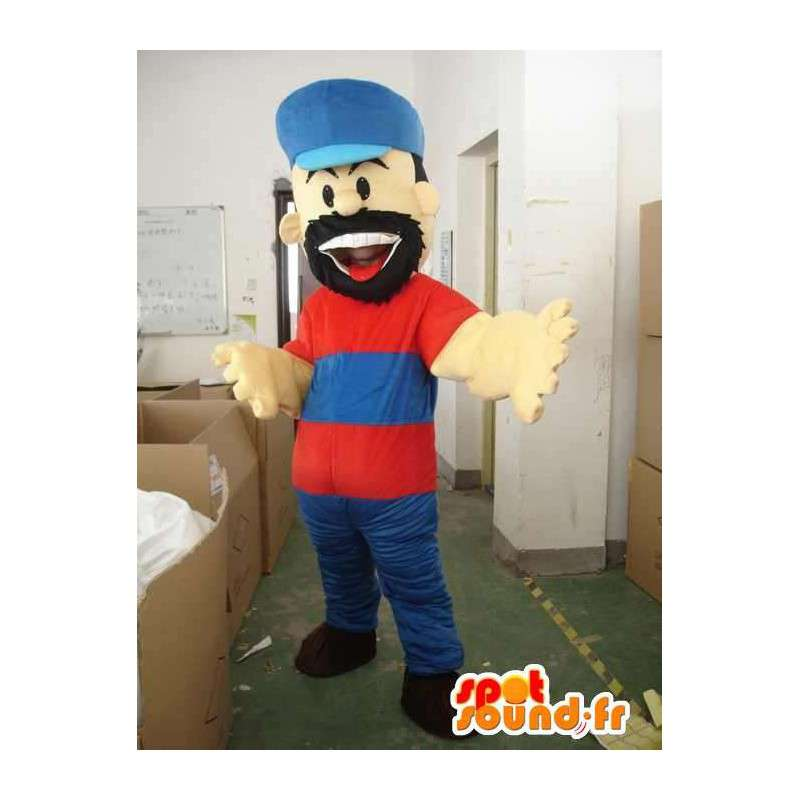 Speciale bebaarde houthakker mascotte voor thema-avonden - MASFR00637 - Human Mascottes