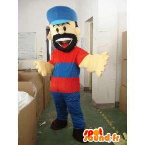 Spesial skjeggete lumberjack maskot for temakvelder - MASFR00637 - menneskelige Maskoter