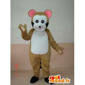 Mascot ξύλο νυφίτσα. λεμούριος κοστούμι. γρήγορη ναυτιλία