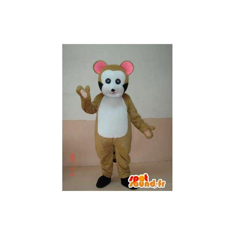 Mascot ξύλο νυφίτσα. λεμούριος κοστούμι. γρήγορη ναυτιλία - MASFR00644 - Δάσος Ζώα