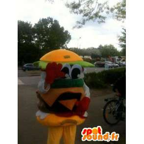 Mascot Hamburger - Yum sandwich hampurilainen - Express Delivery - MASFR00253 - Mascottes Fast-Food