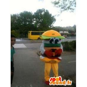 Mascot Hamburger - Miam hamburguesa sandwich - Envío Express - MASFR00253 - Mascotas de comida rápida