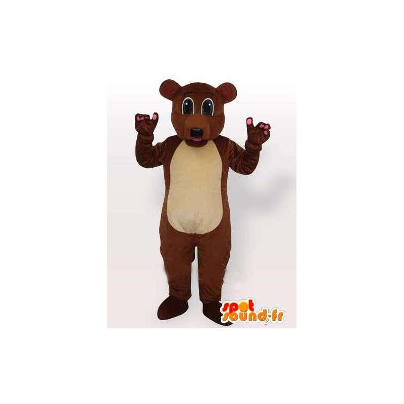 Maskotka ładny brązowy pies. Kombinezon na uroczyste wieczory - MASFR00653 - dog Maskotki