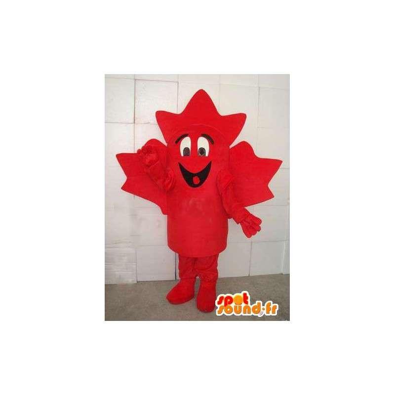 Mascotte de feuille d'érable rouge canadienne. Costume forestier - MASFR00659 - Mascottes de plantes
