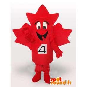 Mascot rosso canadese Maple Leaf. Foresta Costume - MASFR00659 - Mascotte di piante