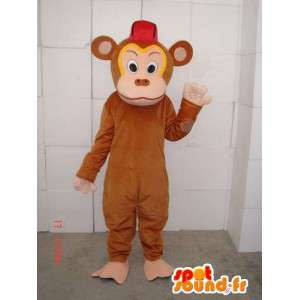 Brown monkey mascot troublemaker especially for evenings