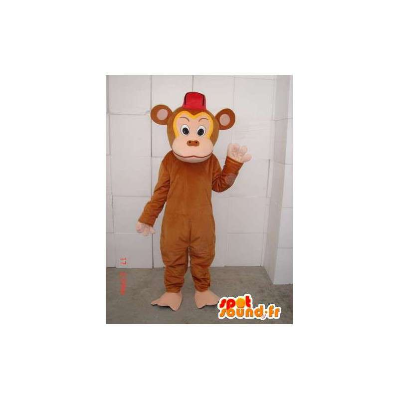 Brown monkey mascot troublemaker especially for evenings - MASFR00660 - Lion mascots