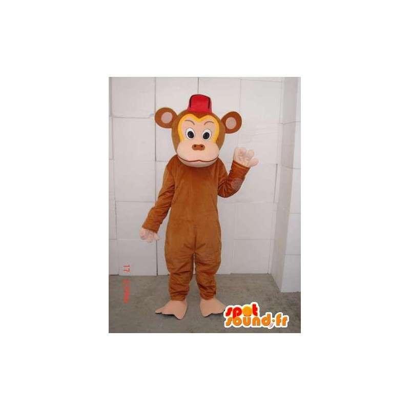 Mascot καφέ ταραχοποιός πιθήκου ειδικά για τα βράδια - MASFR00660 - Λιοντάρι μασκότ