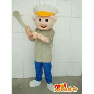 Mascotte joueur de sport américain avec accessoires - Baseball