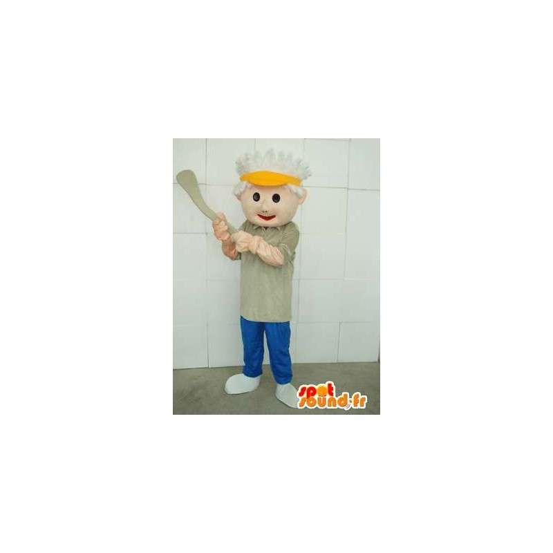 Mascotte joueur de sport américain avec accessoires - Baseball - MASFR00668 - Mascotte sportives