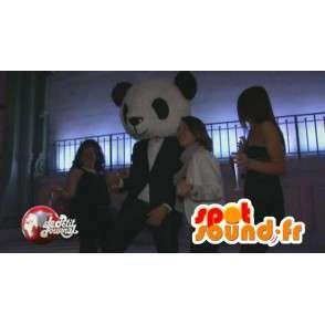 Mascotte Panda classique noir et blanc en peluche - Costume soirée - MASFR00212 - Mascotte de pandas