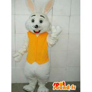 Coniglio mascotte giallo e bianco - Accessori inclusi - Costume