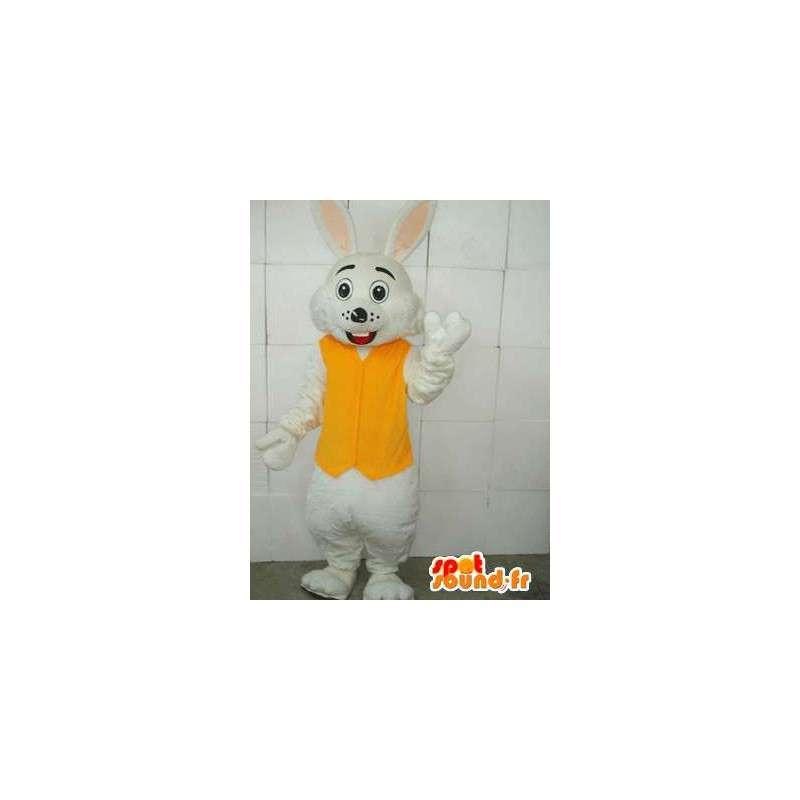 Gul og hvit kanin maskot - Inkludert tilbehør - Kostyme - MASFR00670 - Mascot kaniner