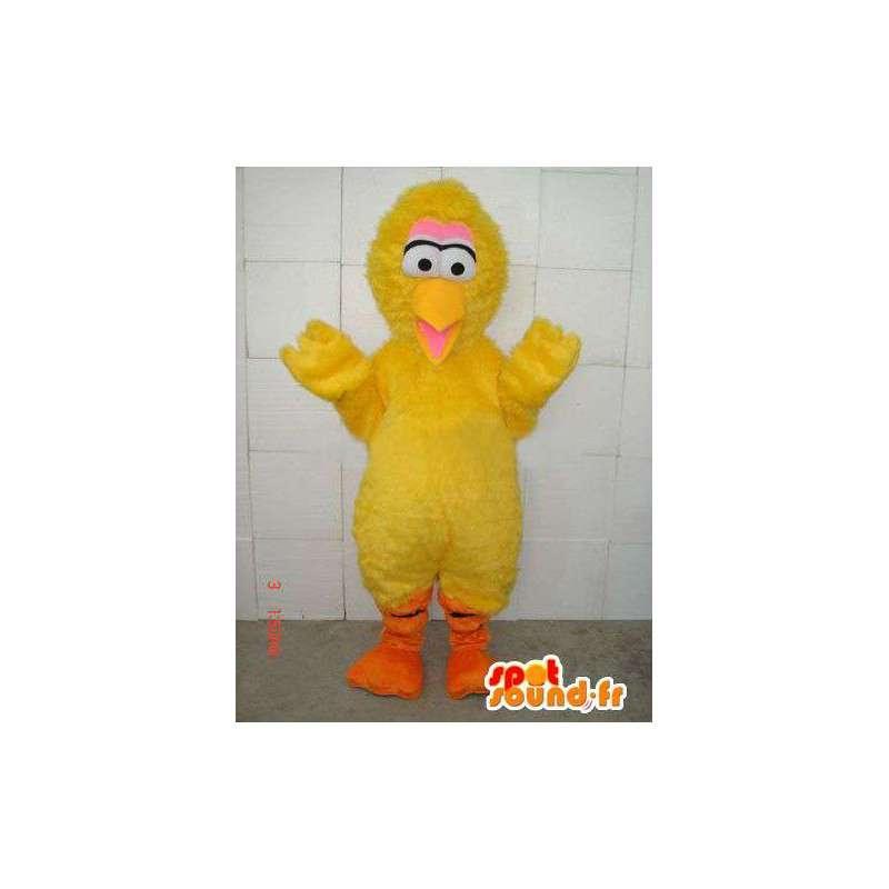 Mascot canario felpa estilo polluelo amarillo y fibra - MASFR00674 - Mascota de gallinas pollo gallo