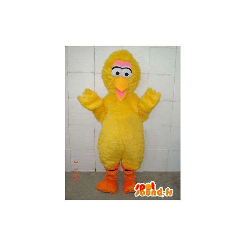 Mascot style yellow canary yellow chick plush and fiber - MASFR00674 - Mascot of hens - chickens - roaster