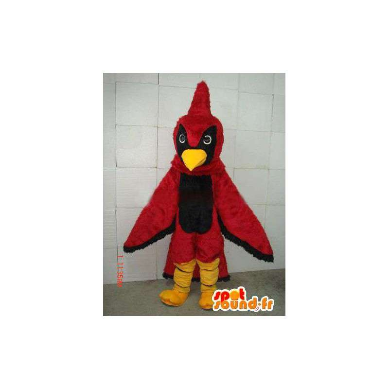 Maskotti punainen ja musta Eagle Crest punainen kukko täytetyt - MASFR00680 - Mascotte de Poules - Coqs - Poulets