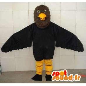 Maskotti musta ja keltainen eagle synteettiset höyhenet - Costume - MASFR00689 - maskotti lintuja