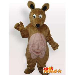 Fox mascot plush brown and beige classic