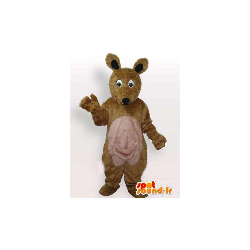 Mascotte de renard en peluche marron et beige classique - MASFR00691 - Mascottes Renard