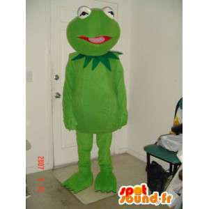 Green frog mascot palmate simple - Frog Costume