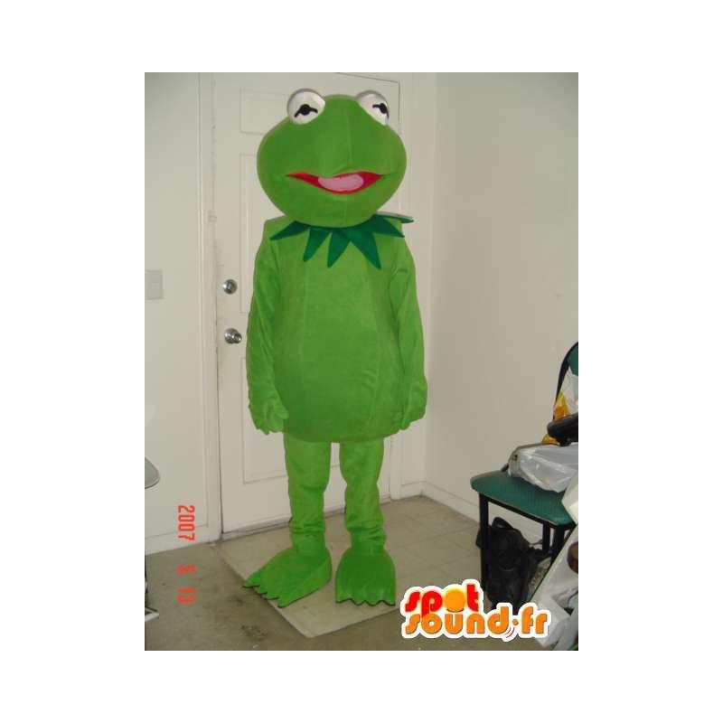 Grüner Frosch-Maskottchen Schwimmhäute einfach - Frosch-Kostüm - MASFR00711 - Maskottchen-Frosch