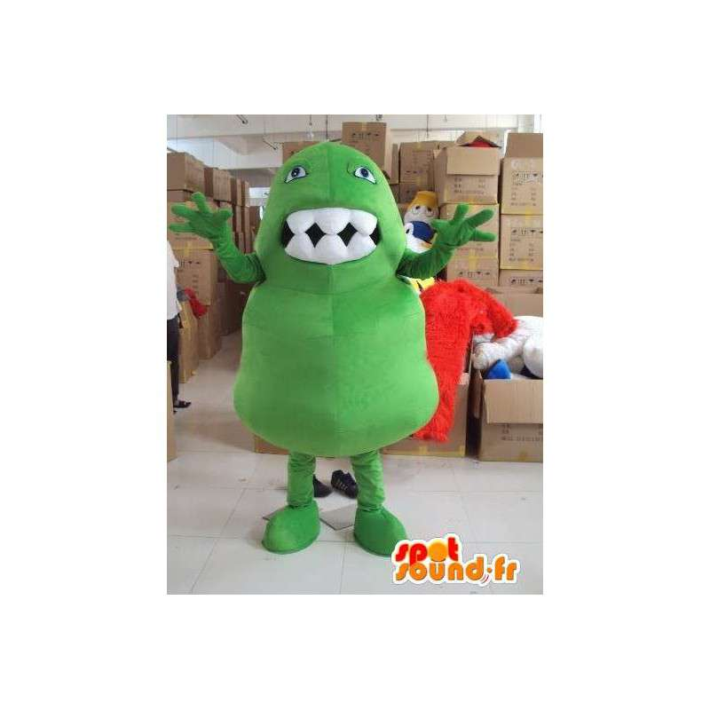 Monster μασκότ με τα μεγάλα δόντια συρτή στυλ για διακοπές - MASFR00718 - μασκότ τέρατα