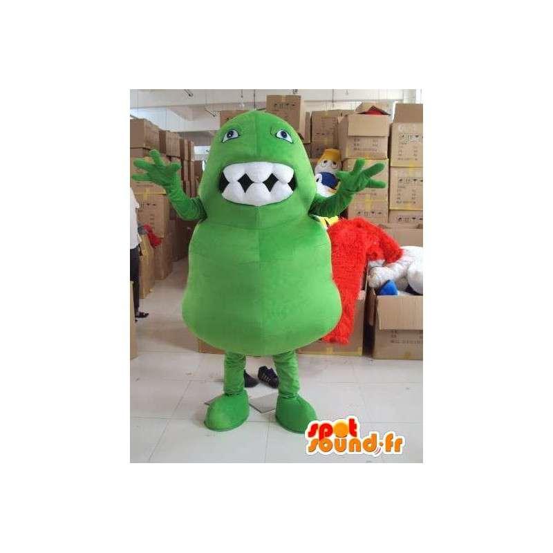 Mostro mascotte con i grandi denti troll stile festa - MASFR00718 - Mascotte di mostri