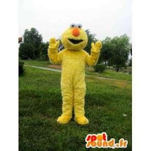 Monster μασκότ βελούδου κίτρινο και πορτοκαλί χρώμα με τη μύτη ινών - MASFR00719 - μασκότ τέρατα