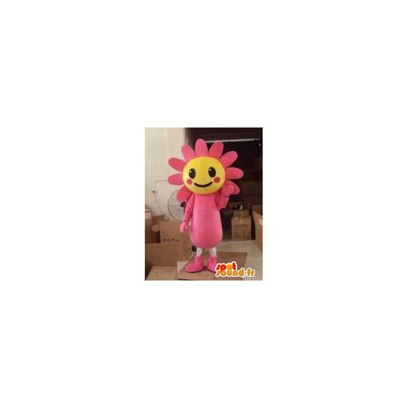 Mascot daisy flower / plant sunflower yellow and pink - MASFR00720 - Mascots of plants