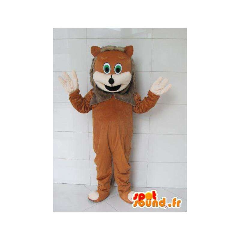 Cub mascot with gray fur - Costume forest - MASFR00721 - Lion mascots