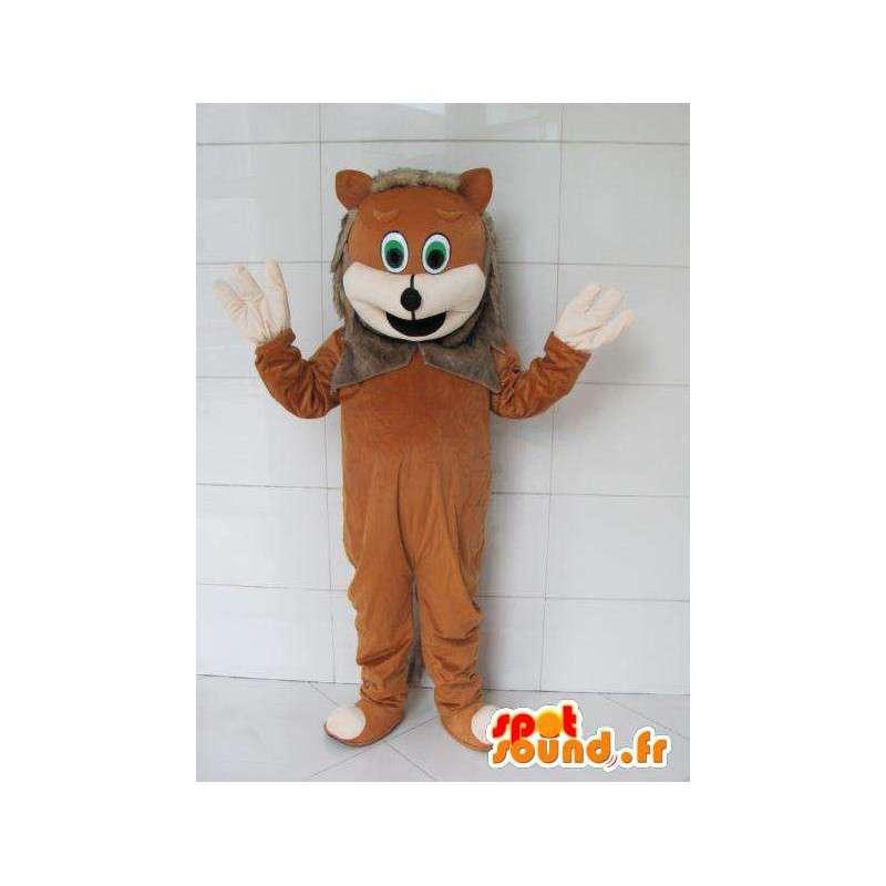 Mascot cub med grå pels - Kostyme av skogen - MASFR00721 - Lion Maskoter