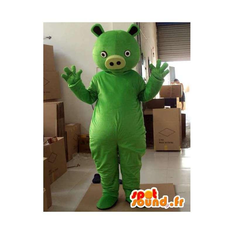 Verde monster pig stile mascotte - festa in costume - MASFR00734 - Maiale mascotte
