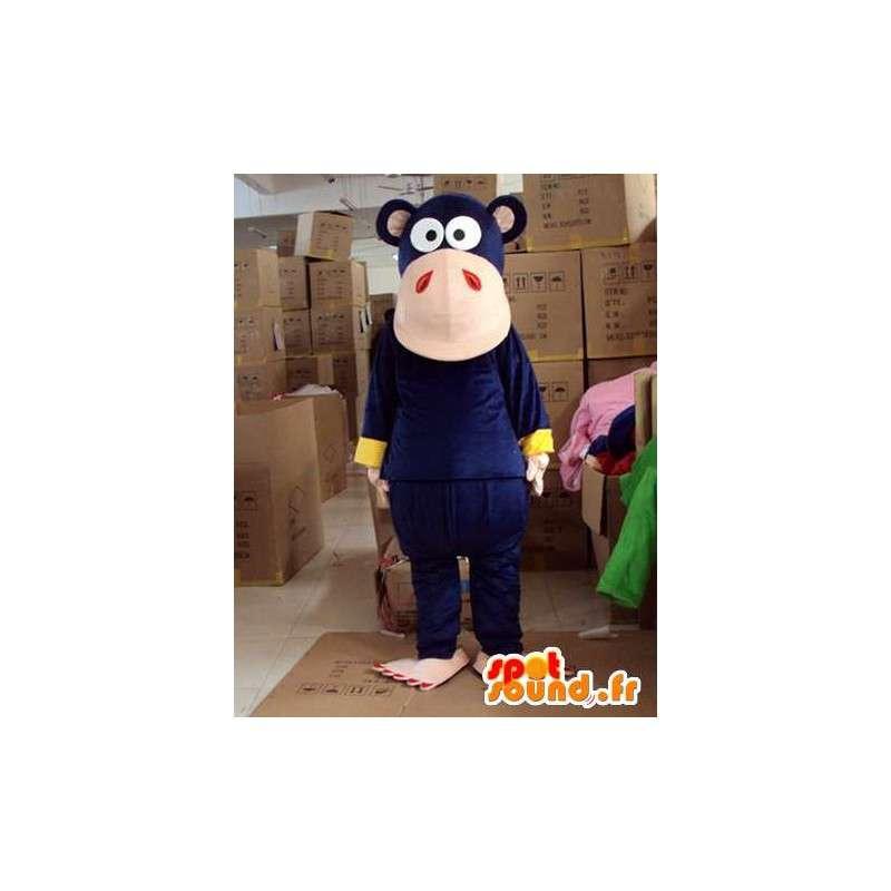 Scuro scimmia mascotte blu - Altamente personalizzabile - MASFR00735 - Scimmia mascotte