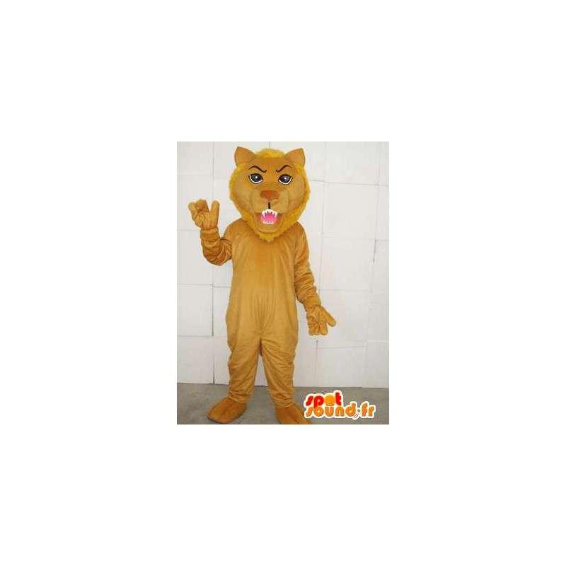 Maskot béžová lev s příslušenstvím - Bižuterie Savannah - MASFR00745 - lev Maskoti