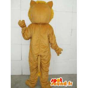 Lion mascot with beige accessories - Costume savannah - MASFR00745 - Lion mascots