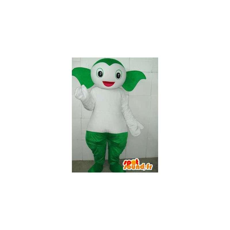 Pokemon mascot style fish underwater green and white - MASFR00747 - Mascots fish