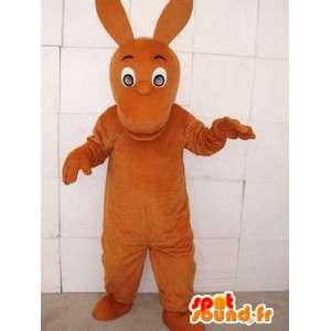 Canguro mascotte marrone con le grandi orecchie