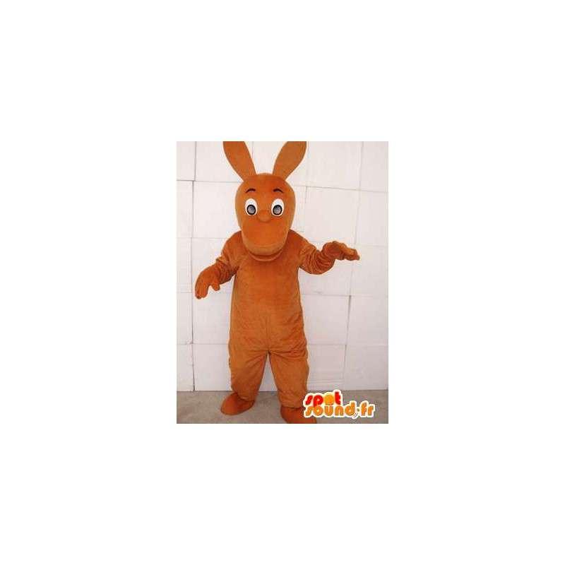 Canguro mascotte marrone con le grandi orecchie - MASFR00751 - Mascotte di canguro