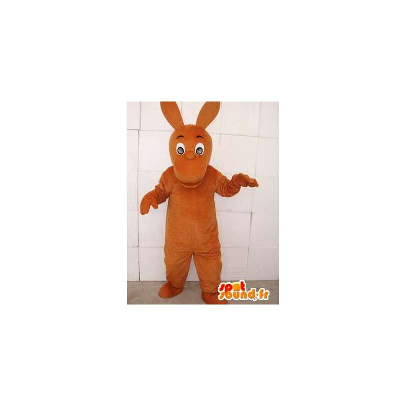 Kangaroo mascot brown with big ears - MASFR00751 - Kangaroo mascots