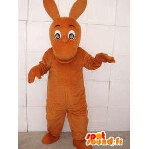 Bruine kangoeroe mascotte kleur met grote oren - MASFR00751 - Kangaroo mascottes
