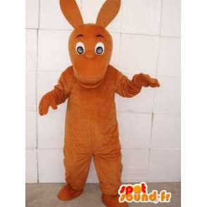 Canguro mascota marrón con orejas grandes - MASFR00751 - Mascotas de canguro