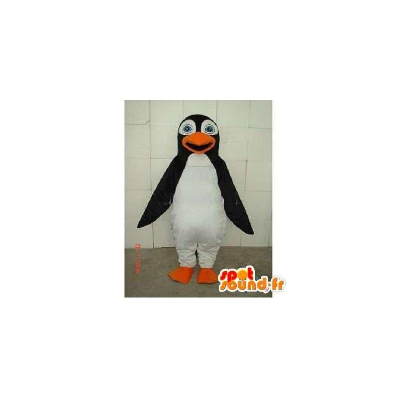 Mascotte et costume de pingouin des mers noir et blanc - MASFR00752 - Mascottes Pingouin