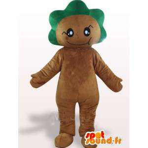 Mascot forest with green leafy crest - Costume festive