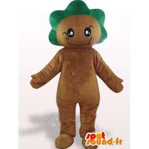 Mascot skog med grønne bladrike crest - Festlig Costume