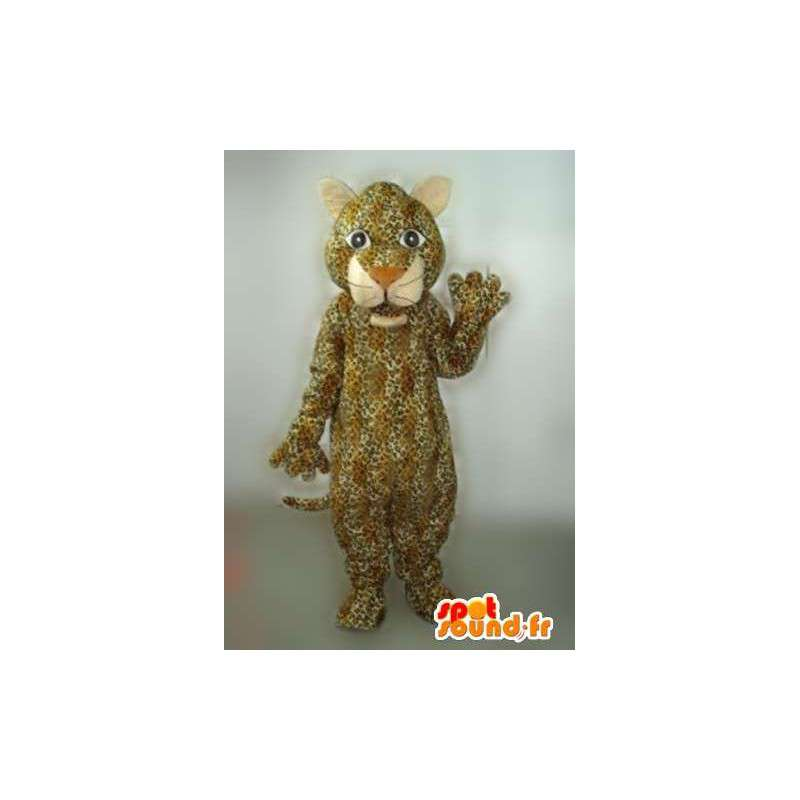 Panther Mascot raidallinen beigen ja ruskean Jaguar tehtävä - MASFR00763 - Tiger Maskotteja