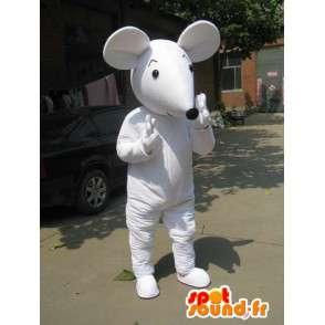 Mickey Mouse mascotte wit stijl met handschoenen en schoenen - MASFR00764 - Mouse Mascot