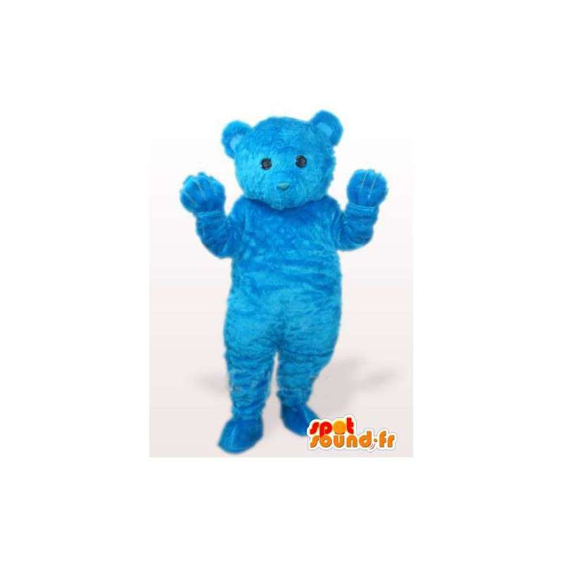 Blu orsacchiotto mascotte mentre il cotone fibra morbida - MASFR00769 - Mascotte orso